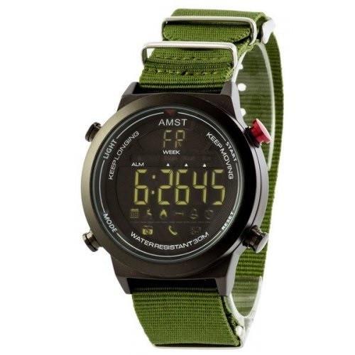 Чоловічий наручний годинник AMST 3017 Чорно-Зелений (SUN3353)
