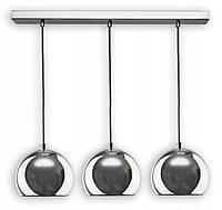 Подвесная светодиодная лампа-люстра в форме металлических шаров в хроме, тип 2, фото 1