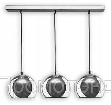 Подвесная светодиодная лампа-люстра в форме металлических шаров в хроме, тип 2