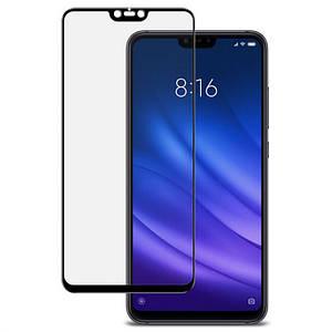 Захисне скло для Xiaomi Mi 8 Lite чорна рамка