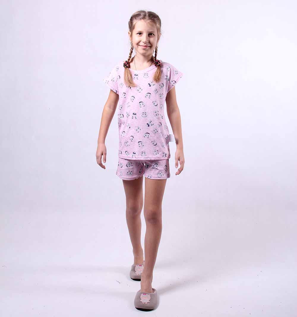 "Подростковая летняя пижама ""Смайл"" р.36"