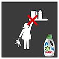 Жидкий стиральный порошок Ariel Touch of Lenor Fresh, 1,3л, фото 4