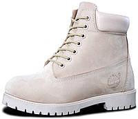 Женские зимние ботинки Timberland Winter Beige зима Тимберленды С МЕХОМ  бежевые 98c4ec41cfd4a