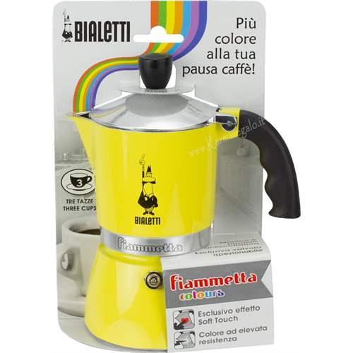 Гейзерная кофеварка Bialetti Fiammetta Yellow (3 чашки - 170 мл)