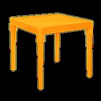 Стол детский квадратный светло-оранжевый 510х510мм