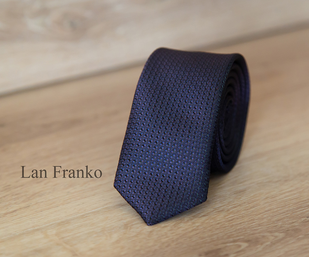 Галстук мужской узкий с рисунком | Lan Franko