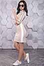 Платье спортивного стиля короткое персиковое молодёжное, фото 4