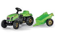 Педальний Трактор з причепом Kid Rolly Toys 12169