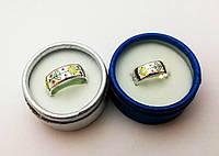 """Кольцо-вышиванка с подсолнухами серебро 925 """"Подсолнухи"""""""