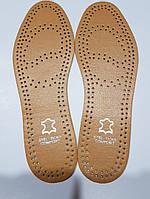 """Стелька для обуви кожаная коричневая """" stelticks comfort """" p.38"""