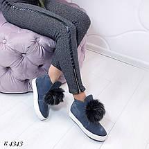Ботинки деми замшевые, фото 3