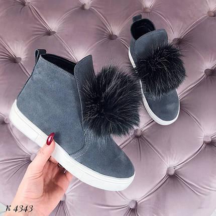 Ботинки деми замшевые, фото 2