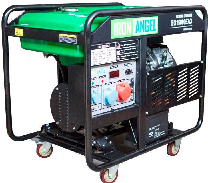 Генератор бензиновый Iron Angel EG 15000 EA3