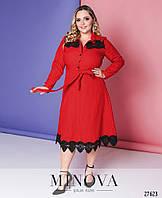 Красное платье рубашка большого размера