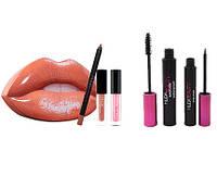 Подарочный набор косметики HUDABEAUTY 5 в 1 для губ и глаз! Лучший подарок на 8 марта и 14 февраля