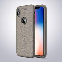 Чехол для Apple Iphone XR силикон Original Auto Focus Soft Touch серый