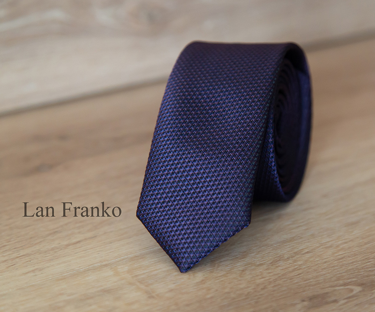 галстук мужской с рисунком узкий