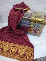 Качественные полотенца в комплекте с вышивкой для лица Размер 50Х100 6 шт., фото 1