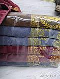 Качественные полотенца в комплекте с вышивкой для лица Размер 50Х100 6 шт., фото 6