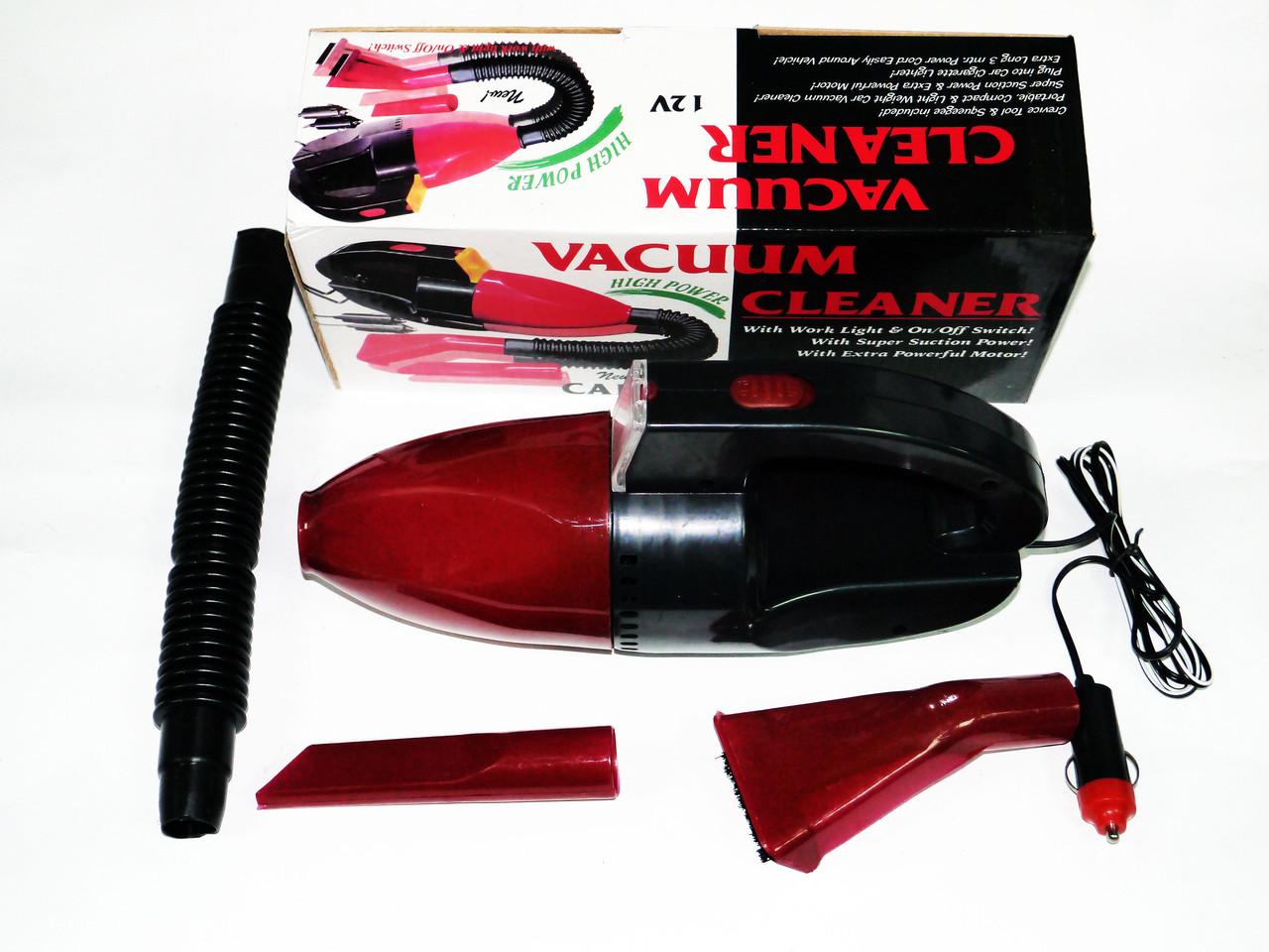 Автомобильный пылесос Vacuum Cleaner с Фонариком