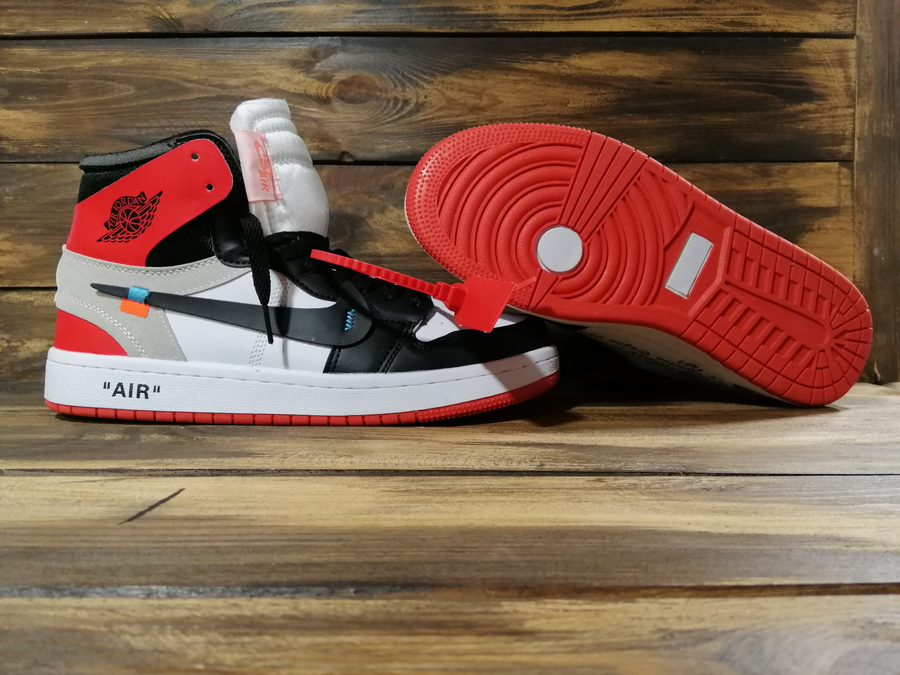 393584e2 Кроссовки мужские белые эко кожа Nike Air Jordan Off-White, цена 990 грн.,  купить в Запорожье — Prom.ua (ID#885743928)
