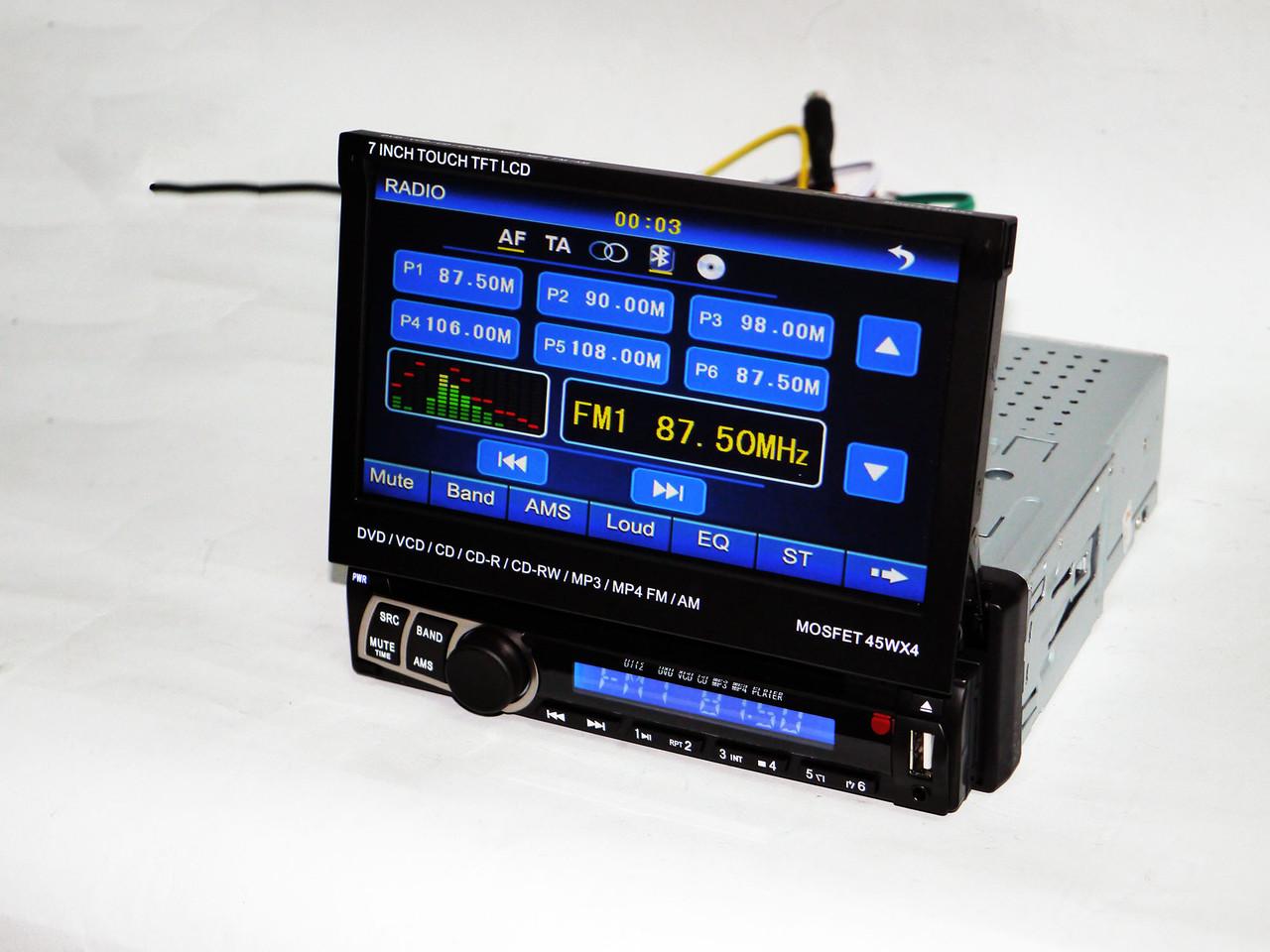 1din Магнитола Pioneer PI-900 DVD+USB+TV+Bluetoth