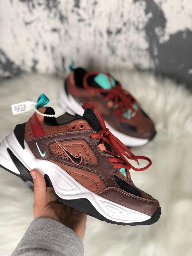 Женские кроссовки Nike M2K Tekno Dark Brown Turquoise