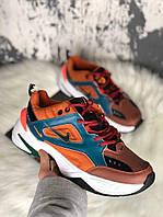 Женские кроссовки Nike M2K Brown Rainforest & Mango, фото 1