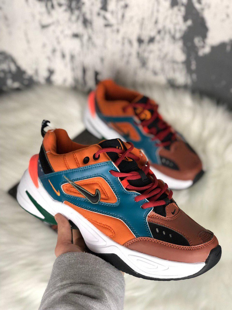 Женские кроссовки Nike M2K Brown Rainforest & Mango