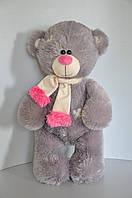 Игрушка Мишка Тедди 56 х 31 см  серый/роз