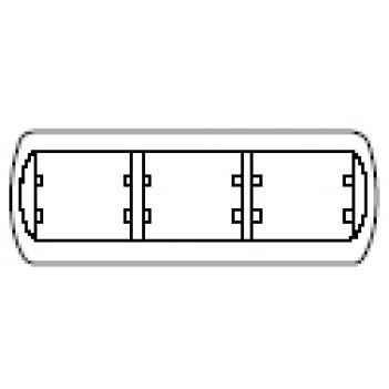 Рамка 3 поста горизонтальная белая Legrand GALEA LIFE 777003