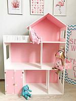 Кукольный дом деревянный ручной работы,110*90*30