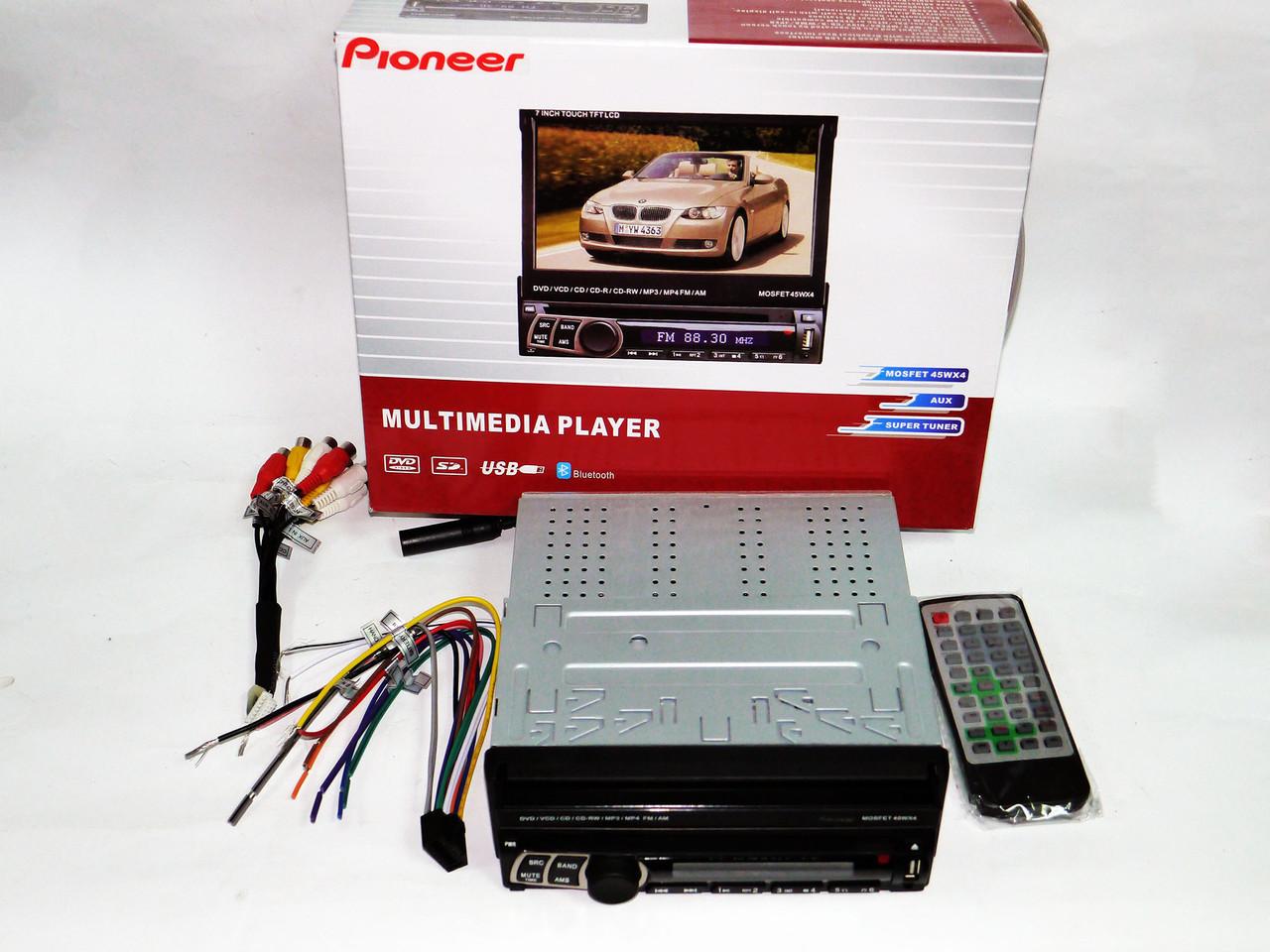 1din Магнитола Pioneer PI-900 + Камера + ТВ антенна