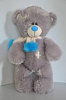 Мишка Тедди 63 х 34 см  серый/гол