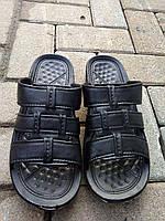 Тапочки летние мужские черные оптом Крок, фото 1