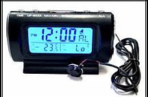 Часы автомобильные  термометр KS 782