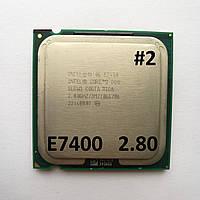 Процессор ЛОТ#2 Intel® Core™2 Duo E7400 R0 SLB9Y 2.80GHz 3M Cache 1066 MHz FSB Socket 775 Б/У, фото 1