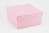 """Коробка """"Киев"""" М0053-12 розовая, размер: 200*200*100 мм"""