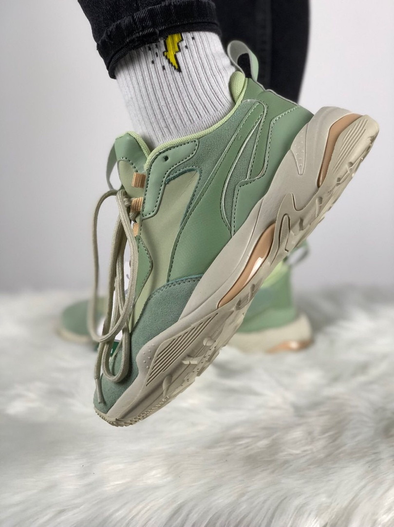 Женские кроссовки Puma Thunder Desert (Smoke Green/Silver Green)