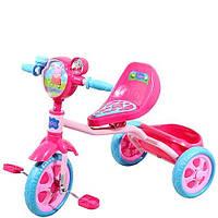 Детский трехколесный велосипед Peppa с массажным сиденьем