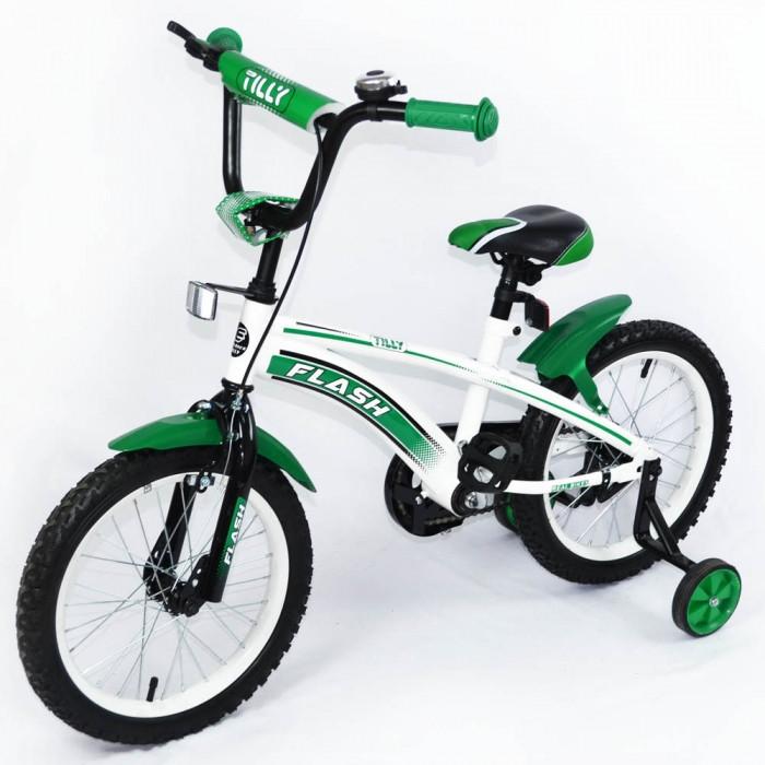 Велосипед двухколёсный детский 16 дюймов TILLY FLASH T-21645 Green