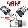 Флешка  SanDisk Ultra Dual, OTG 32Gb Black, фото 3