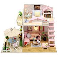 Кукольный домик, миниатюра, двухэтажный, DIY house набор для сборки, ночник