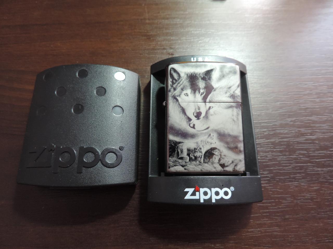 """Зажигалка Zippo - """"Wolf's Rain 2"""" копия"""