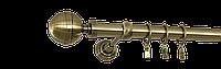 Карниз одинарный 160см D25мм латунь античная KALISTO