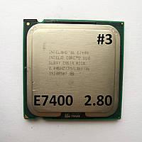 Процессор ЛОТ#3 Intel® Core™2 Duo E7400 R0 SLB9Y 2.80GHz 3M Cache 1066 MHz FSB Socket 775 Б/У, фото 1