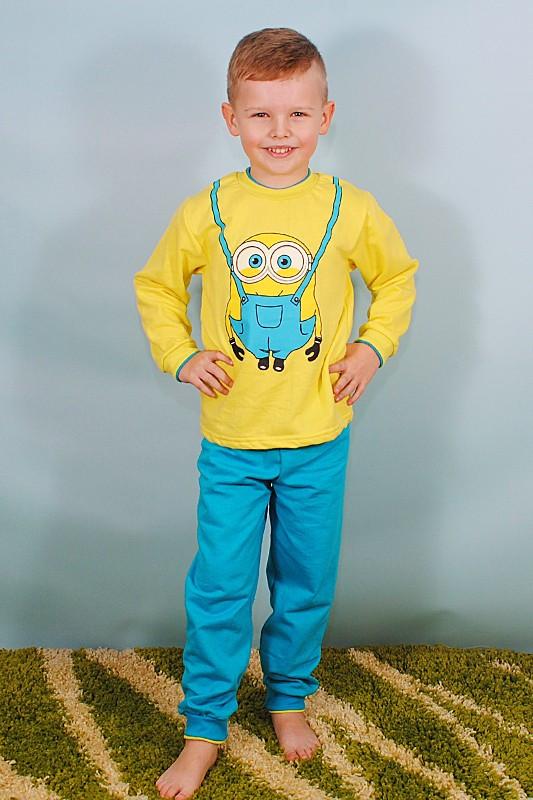 """Пижама детская на мальчика """"Миньоны"""" начес"""