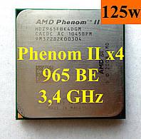 Процессоры (б/у) AMD Phenom II X4 965 Black Edition, 3,4ГГц, sAM2+/AM3, Tray HDZ965FBK4DGM 955 960 945