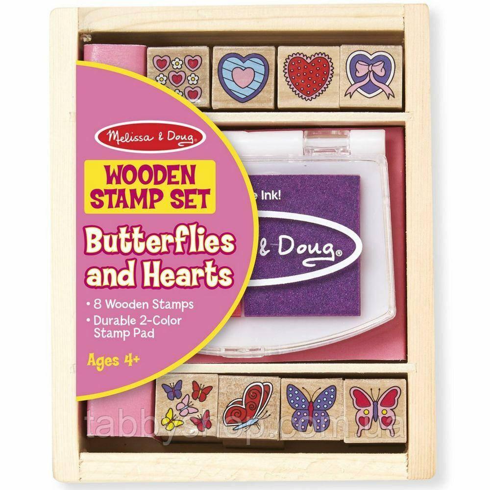 "Набор штампов Melissa & Doug ""Бабочки и Сердечки"""