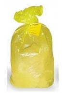 Пакеты для сбора медицинских отходов 330x300, 10л., Желтые (опасные отходы)